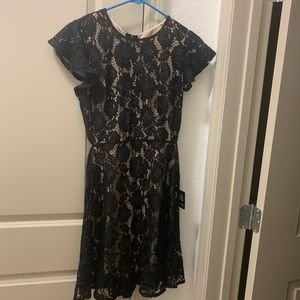 NWT Express, short dress, size 12, black and nude